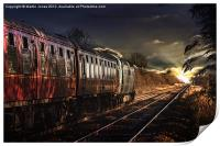 Deltic Sunset, Print