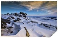 Carl Wark seen from the Ice on Higger Tor, Print