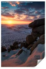 Winter Sunset over Higger Tor, Print