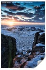 Snow over Higger Tor, Print