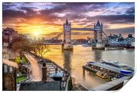 Dawn Over Tower Bridge, Print