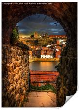 Through the Keyhole at Whitby , Print