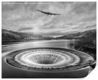 Lancaster over Ladybower, Print