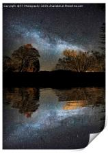 The Milky Way from Waterhead Pier, Coniston Water, Print