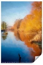 Winter Sun on the Aire, Print