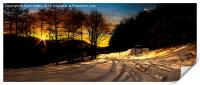 Ladybower Snow, Print