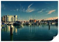 Evening at Sovereign Harbour, Print