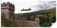 Canadian Lancaster VR-A at the Derwent Dam, Print