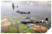 303 Squadron Spitfire sweep, Print
