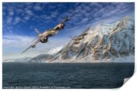 RAF Mosquitos in Norway fjord attack, Print