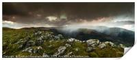 View to Tor y Foel, and Talybont Reservoir Brecon , Print