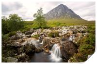 Buachaille Etive Mor and Coupall Falls, Print
