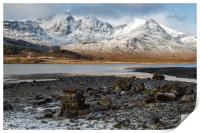 Bla Bheinn( Blaven) in the Snow, Print