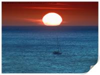 Sailing into the Sunset, Print