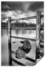 Fence in the loch, Print