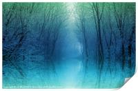 Moonlight Misty Pool, Print