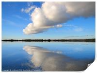 Fluffy Cloud over Hanningfield, Print