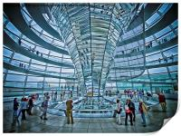 Reichstag dome, Print