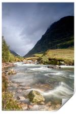 Glen Coe Waterway, Print