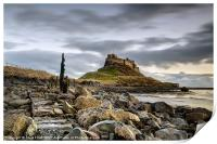 Path to Lindisfarne Castle, Print