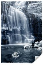Ice Rocks at Scaleber Force Falls, Print