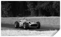 Stirling Moss and Mercedes, Print