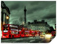 Red buses and Routemaster, Print