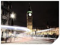 Big Ben with Light Trails, Print