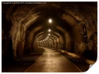Headstone Tunnel, Derbyshire, Monsal Trail, Print