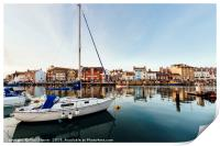 Weymouth Harbour at sunset, Print