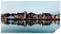 Weymouth Harbour in early evening, Print