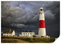 Stormy Weather at Portland Bill, Print