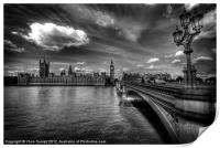 Palace Of Westminster - London, England, Print