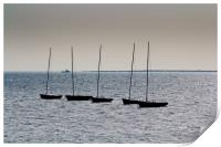 Dinghies off of Leigh Essex, Print
