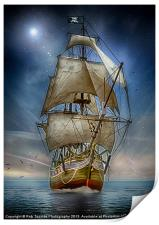 NAVIGATING CALM WATERS, Print
