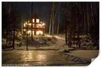Winter at the Cottage, Print