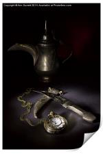 Watch, Dagger and Coffee Pot, Print