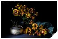 Heleniums in the Sunshine, Print