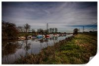 River Rother At New Bridge Iden, Print