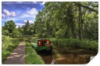 Towpath at Talybont on Usk, Print