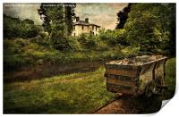 Talybont Canal And Tramway Truck, Print
