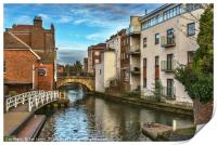The Kennet And Avon In Newbury, Print