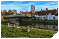 The Swan Family Visiting Hungerford, Print