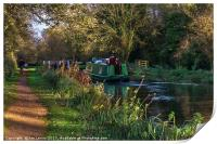 Traffic On The Kennet and Avon Canal, Print