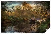 Narrowboat On The Kennet And Avon, Print