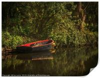 Dinghy On The Oxford Canal, Print
