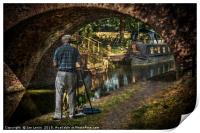 Artist At Pewsey Bridge, Print