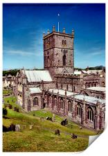 St David's Cathedral. Pembrokeshire, Wales, Print