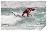 Surfing in Cornwall, Print