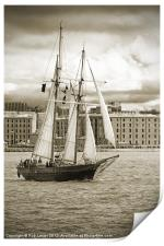 Tall ship in Liverpool, Print